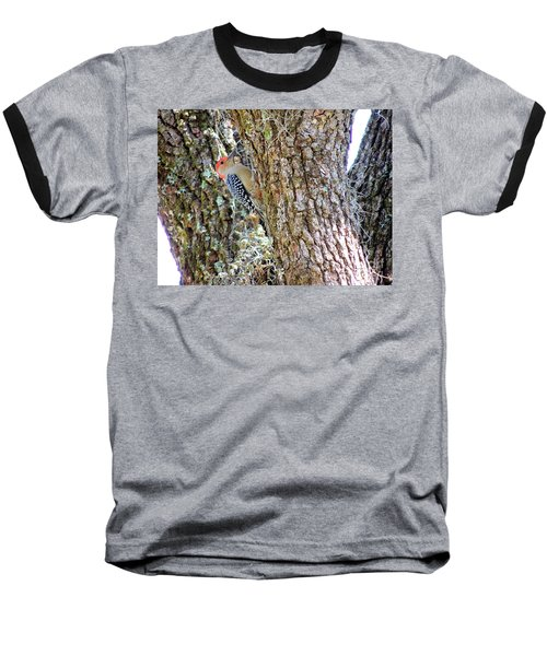 Baseball T-Shirt featuring the photograph Red-bellied Woodpecker By Bill Holkham by Bill Holkham