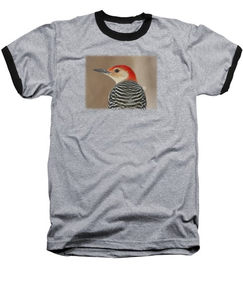 Red Bellied Woodpecker Glamour Portrait Baseball T-Shirt by John Harmon