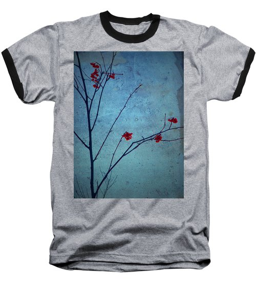 Red Berries Blue Sky Baseball T-Shirt