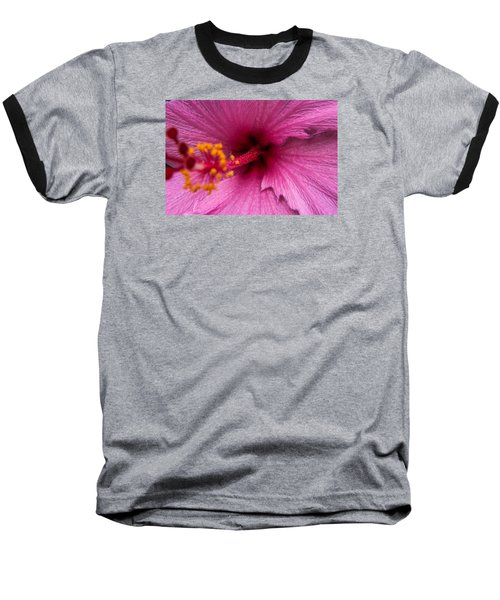 Red Bloom - Pla302 Baseball T-Shirt by G L Sarti