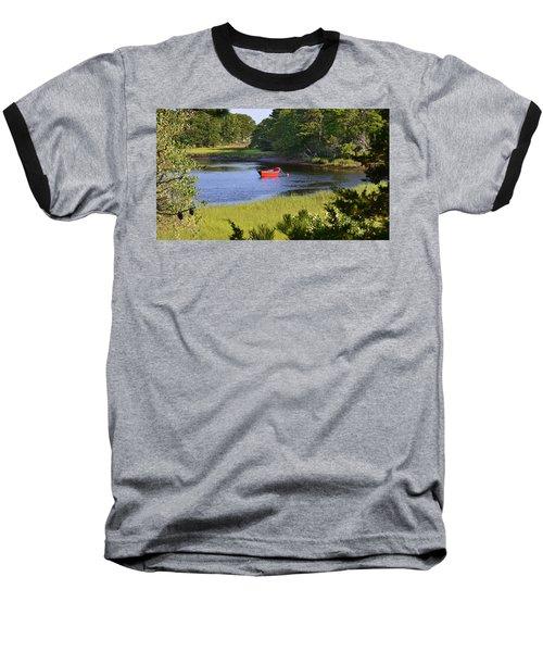 Red Boat On The Herring River Baseball T-Shirt