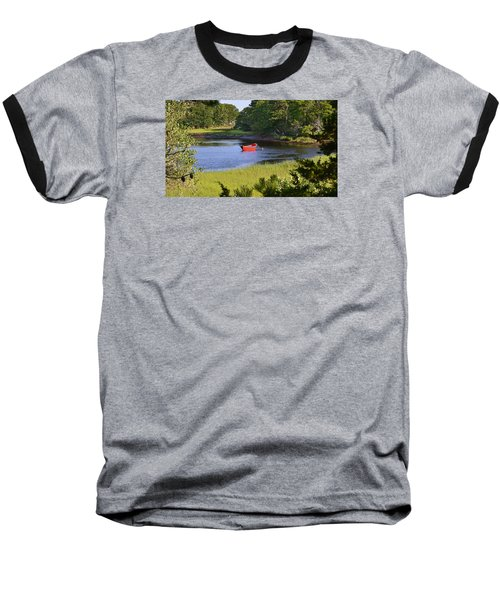 Red Boat On The Herring River Baseball T-Shirt