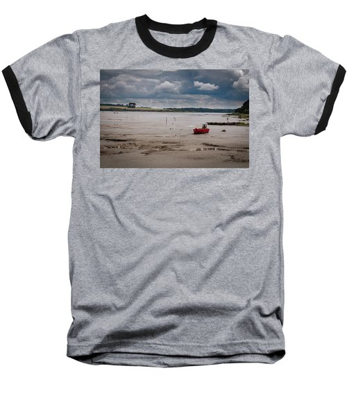 Red Boat On The Mud Baseball T-Shirt