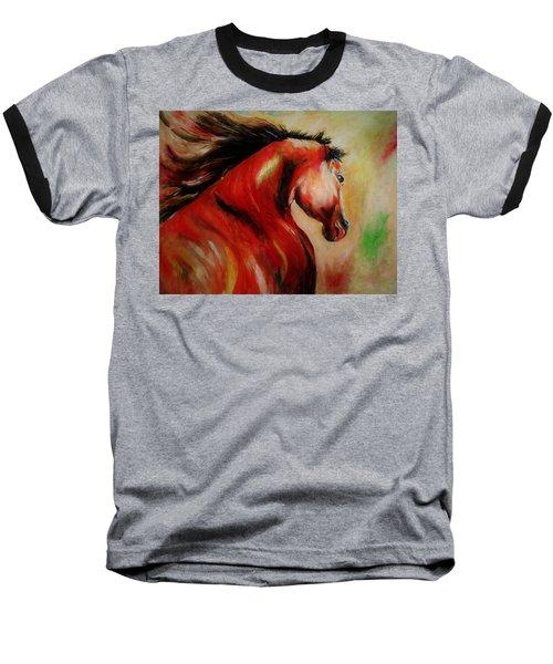 Red Breed Baseball T-Shirt by Khalid Saeed