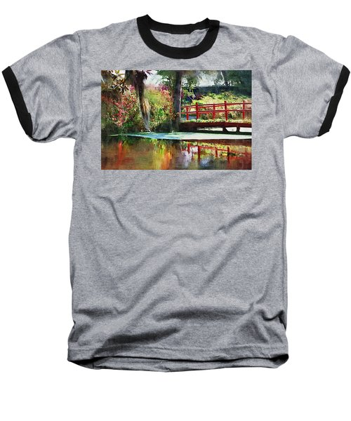 Baseball T-Shirt featuring the photograph Red Bridge by Donna Bentley