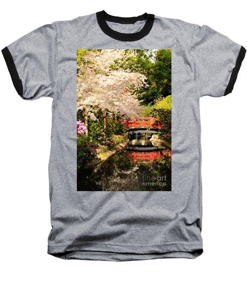Red Bridge Reflection Baseball T-Shirt