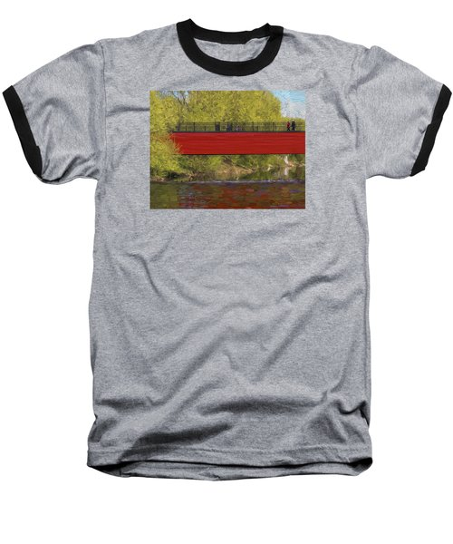 Baseball T-Shirt featuring the photograph Red Bridge by Vladimir Kholostykh