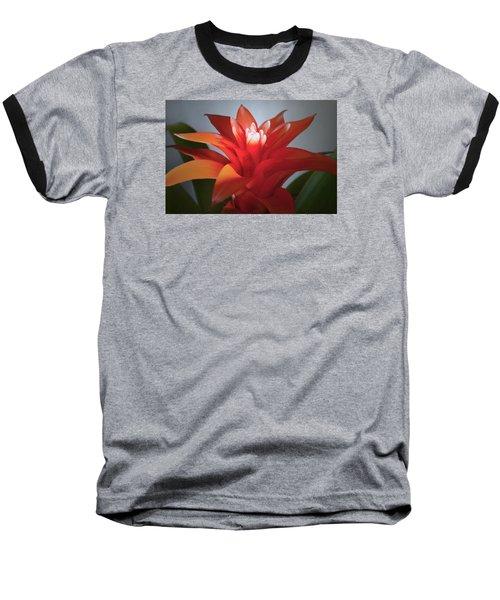 Red Bromeliad Bloom. Baseball T-Shirt
