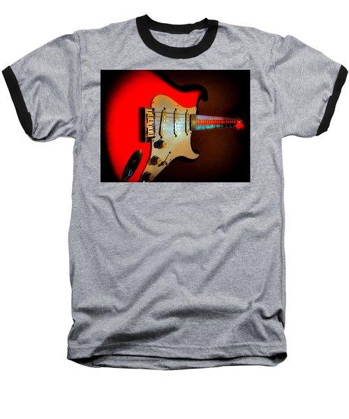 Red Burst Stratocaster Glow Neck Series Baseball T-Shirt