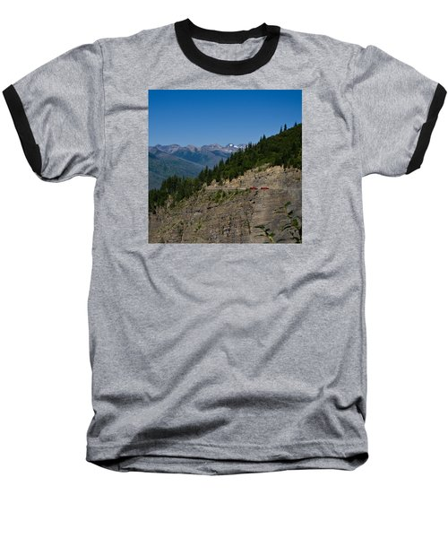 Red Buses, Glacier National Park Baseball T-Shirt