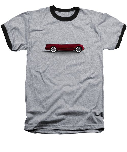 Red C1 Convertible Baseball T-Shirt