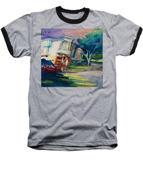 Red Cafe Baseball T-Shirt by Rick Nederlof