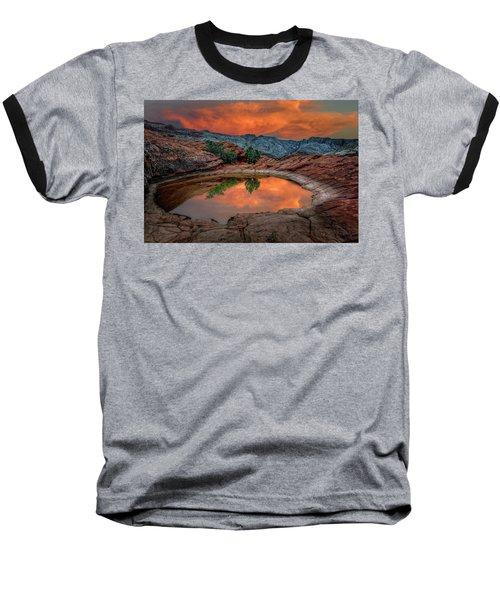 Red Canyon Reflection Baseball T-Shirt