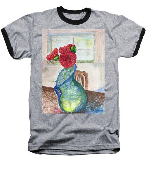 Red Carnations Baseball T-Shirt
