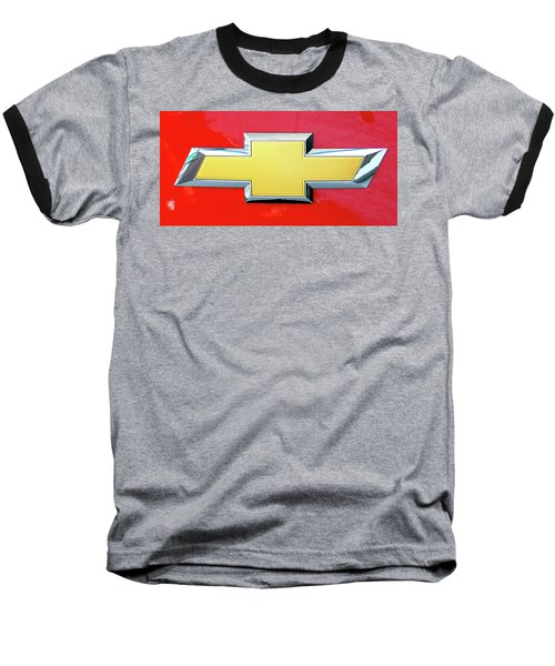 Red Chevy Bowtie Baseball T-Shirt