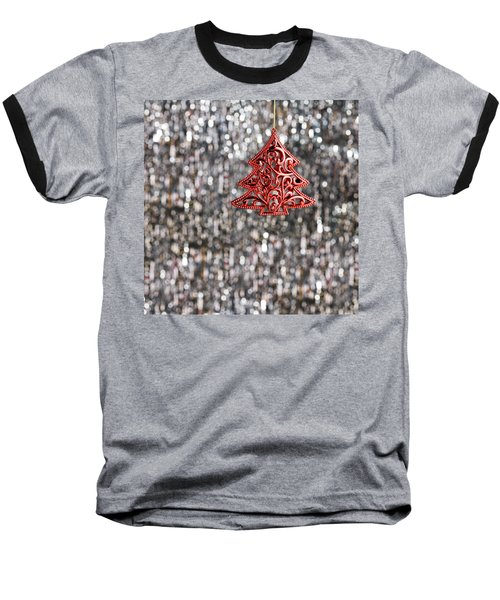 Baseball T-Shirt featuring the photograph Red Christmas Tree by Ulrich Schade