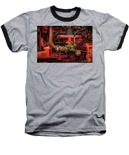 Baseball T-Shirt featuring the photograph Red by Christopher Holmes
