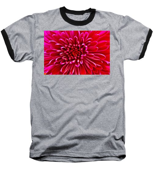 Red Chrysanthemum Baseball T-Shirt