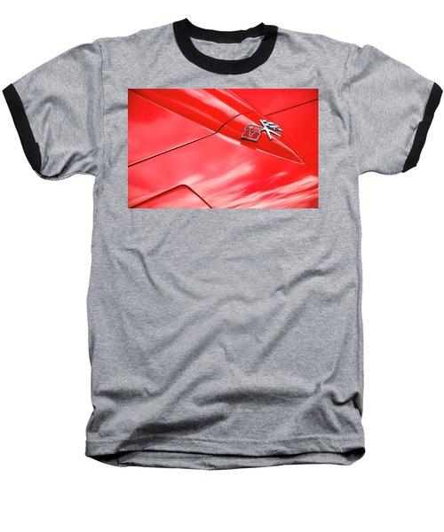 Red Corvette Hood Baseball T-Shirt