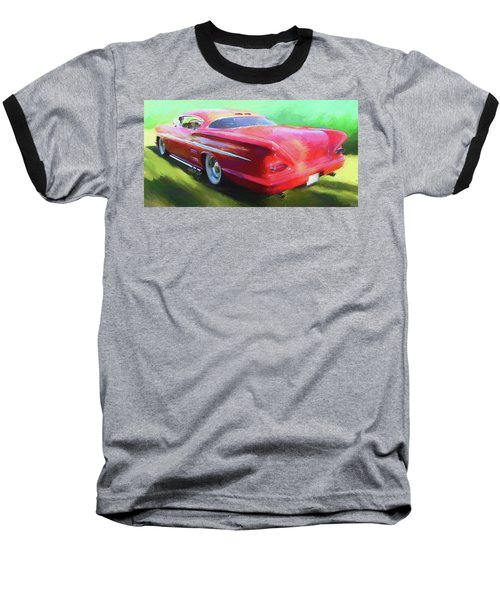 Red Custom Baseball T-Shirt