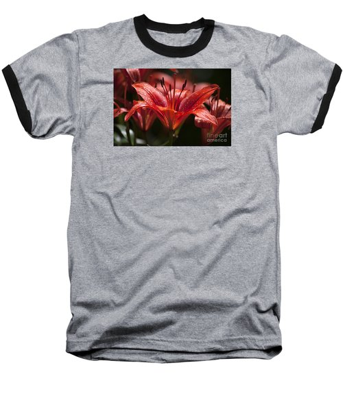 Baseball T-Shirt featuring the photograph Red Day Lily 20120615_52a by Tina Hopkins