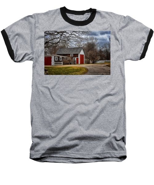 Red Doors Baseball T-Shirt by Tricia Marchlik