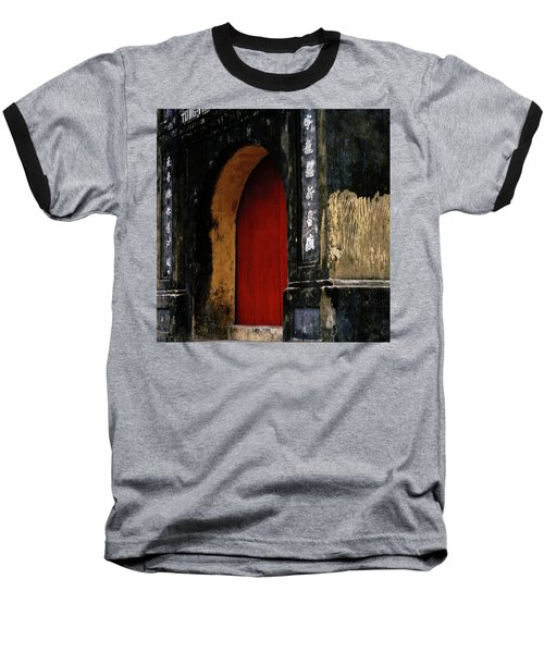 Red Doorway Baseball T-Shirt by Shaun Higson