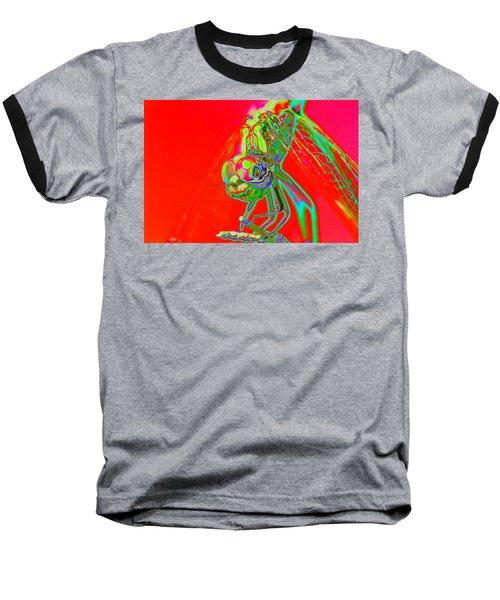 Red Dragon Baseball T-Shirt by Richard Patmore
