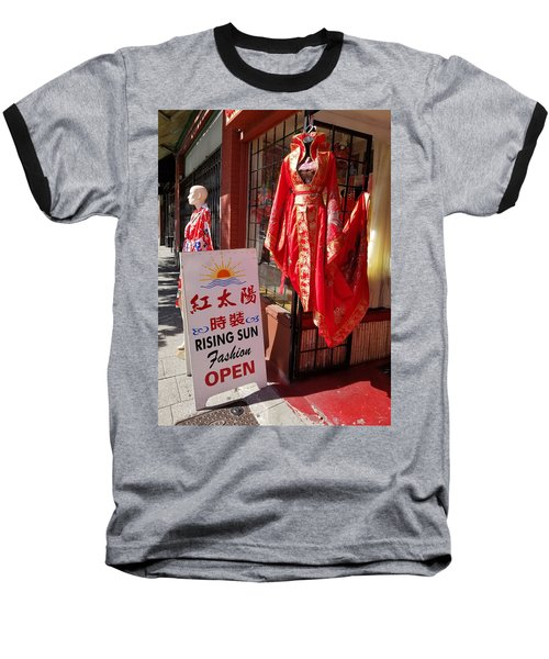 Red Dress In Chinatown, Vancouver, Canada Baseball T-Shirt