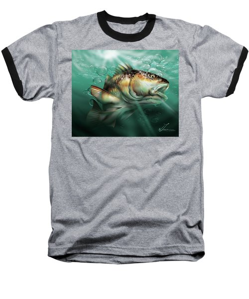 Red Drum Baseball T-Shirt by William Love