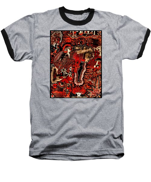 Red Existence Baseball T-Shirt
