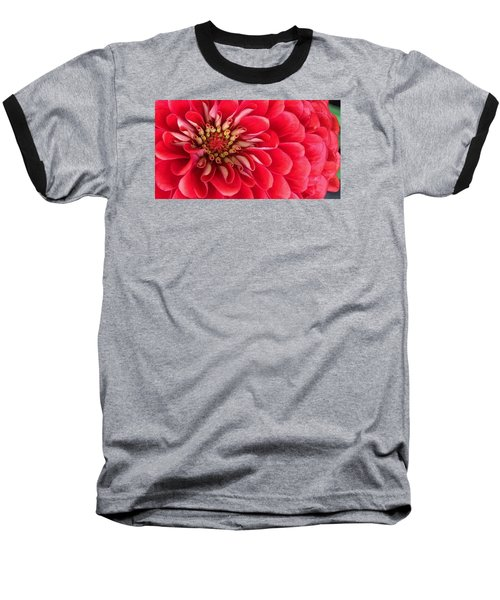 Red Explosion Baseball T-Shirt by Bruce Bley
