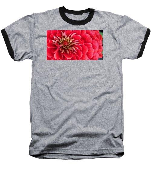 Red Explosion Baseball T-Shirt