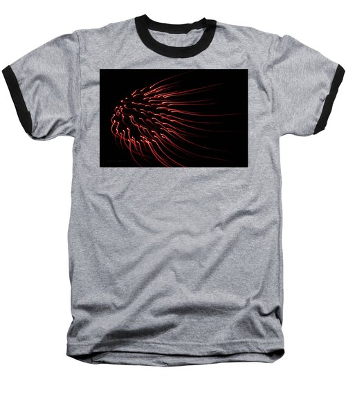 Baseball T-Shirt featuring the photograph Red Firework  by Chris Berry
