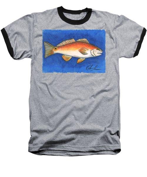 Red Fish Baseball T-Shirt