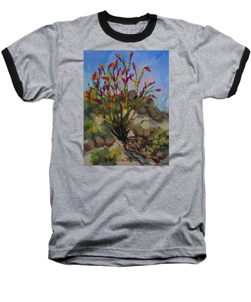 Red Flame Ocotillo 5 Baseball T-Shirt