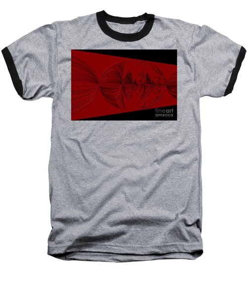 Red And Black Design. Art Baseball T-Shirt