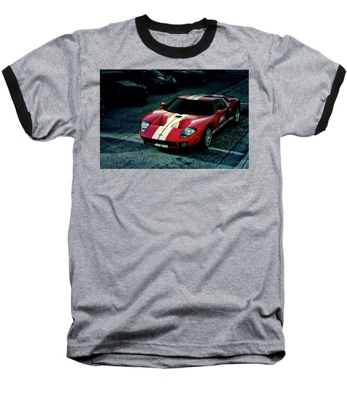 Baseball T-Shirt featuring the photograph Red Ford Gt by Joel Witmeyer