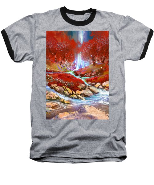 Red Forest Baseball T-Shirt