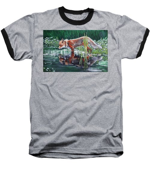 Red Fox Reflecting Baseball T-Shirt