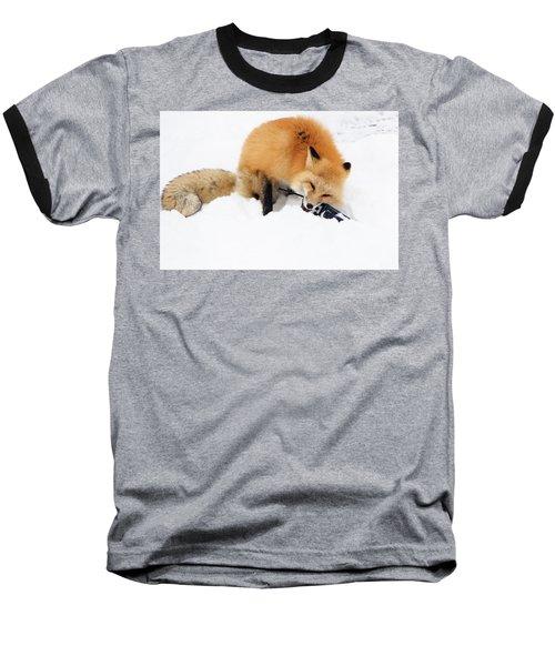 Red Fox To Base Baseball T-Shirt