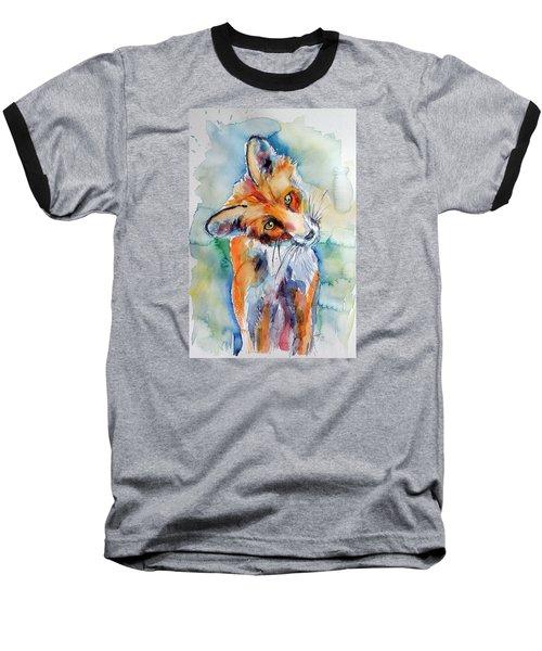 Red Fox Watching Baseball T-Shirt by Kovacs Anna Brigitta