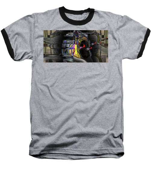 Baseball T-Shirt featuring the digital art Red Franklies by Steve Sperry