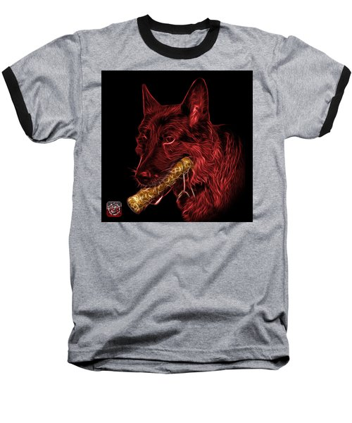 Red German Shepherd And Toy - 0745 F Baseball T-Shirt