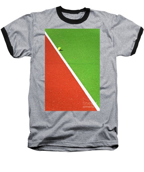 Red Green White Line And Tennis Ball Baseball T-Shirt
