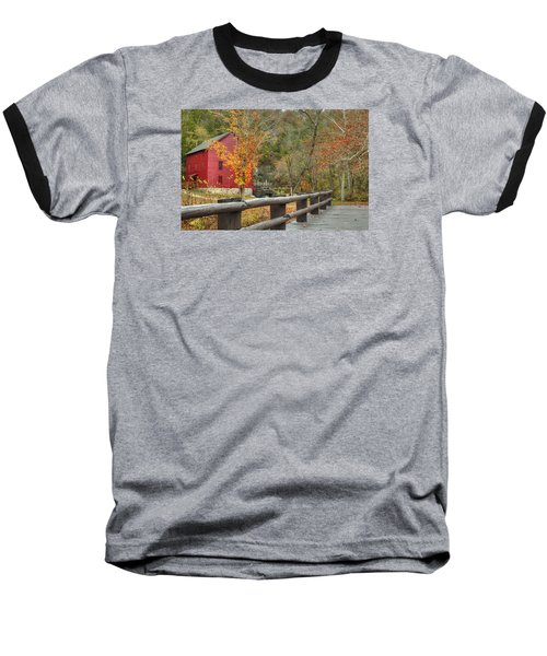 Red Grist Mill Front Entrance Baseball T-Shirt