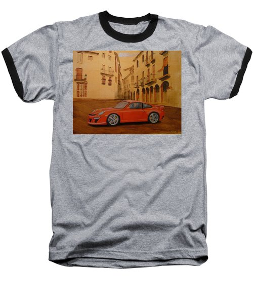 Red Gt3 Porsche Baseball T-Shirt