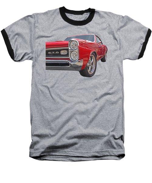Red Gto Baseball T-Shirt by Gill Billington