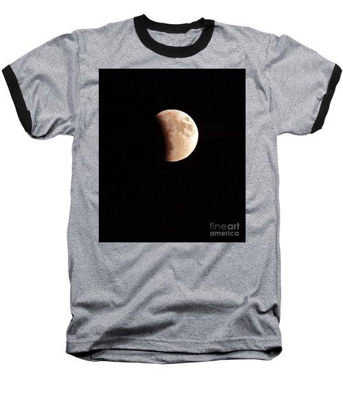 Red Harvest Super Moon Eclipse Baseball T-Shirt