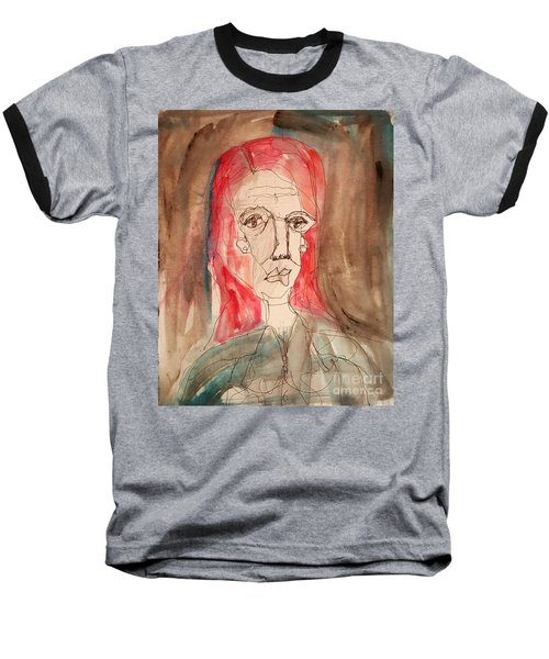 Red Headed Stranger Baseball T-Shirt by A K Dayton